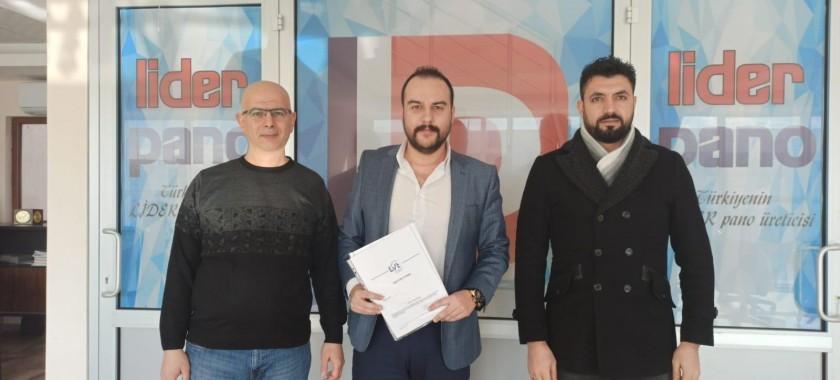 Konya Lider Pano Firması İle Test ve Belgelendirme Sözleşmesi Yapıldı